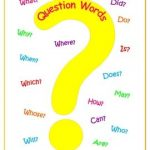 question words en ingles