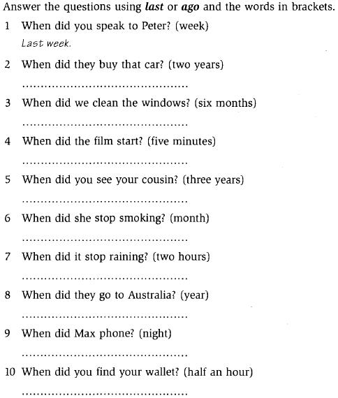 16-2e-Past simple ejercicios