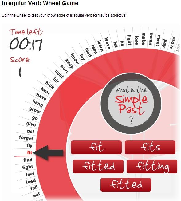 practicar los irregular verbs