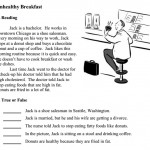 Lectura con audio en inglés – Unhealthy Breakfast
