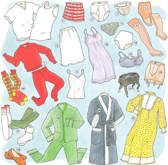 vocabulario de ropa en ingl s con dibujos imagui