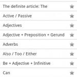 Repasar GRAMATICA en INGLES: Aplicación ANDROID